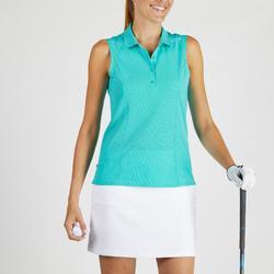 Polo de golf transpirable turquesa para mujer