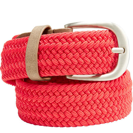 Red adult golf stretchy belt size 2