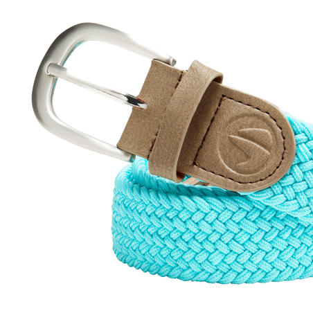 Turquoise adult golf stretchy belt size 1