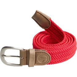 成人款高爾夫球2號尺寸彈性皮帶-紅色