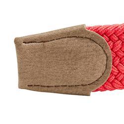 Cinturón de golf extensible adulto rojo coral talla 1