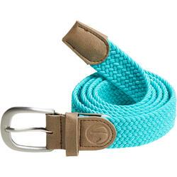 Cinturón de golf extensible 500 adulto azul turquesa talla 1