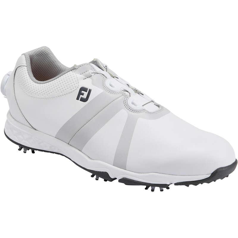 PÁNSKÁ GOLFOVÁ OBUV DO MOKRÉHO TERÉNU Golf - PÁNSKÁ OBUV ENERGIZE BOA BÍLÁ FOOTJOY - Golfová obuv