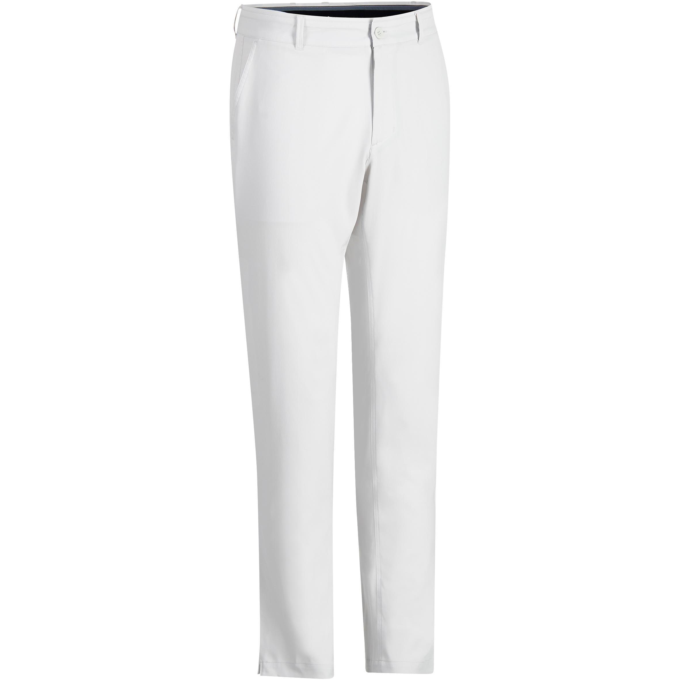 Pantalón de golf hombre 900 clima caluroso gris claro