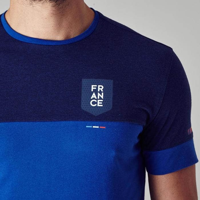 T-shirt de football adulte FF100 France bleu