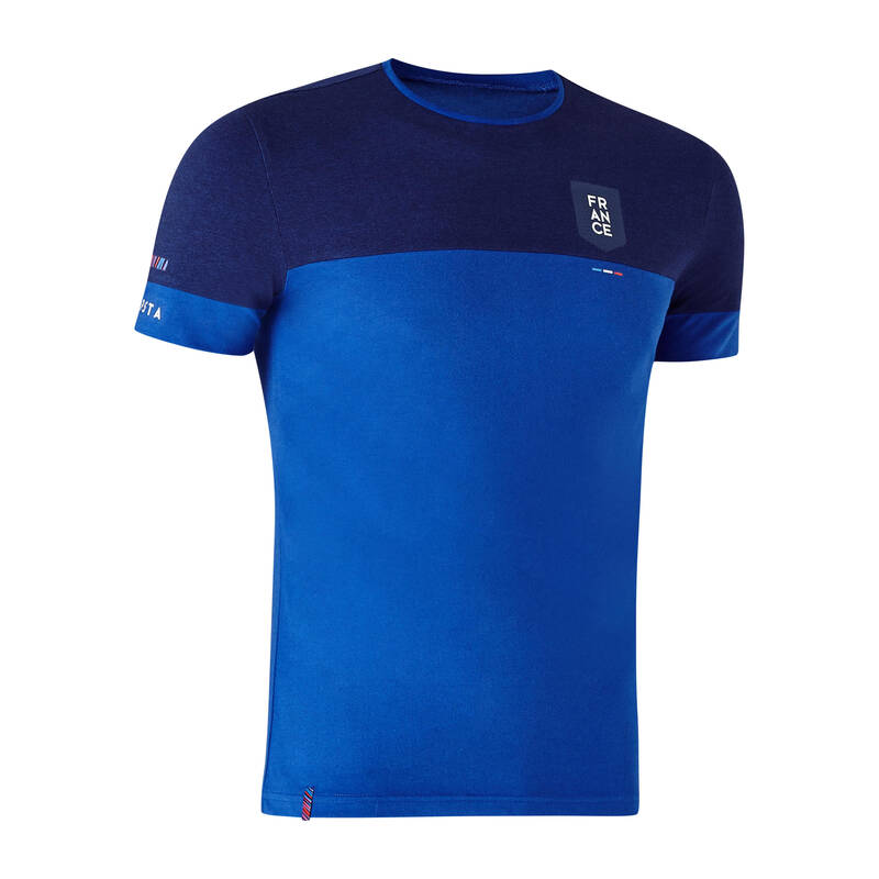FRANCIE Fotbal - TRIČKO FF100 FRANCIE MODRÉ KIPSTA - Fotbalové oblečení