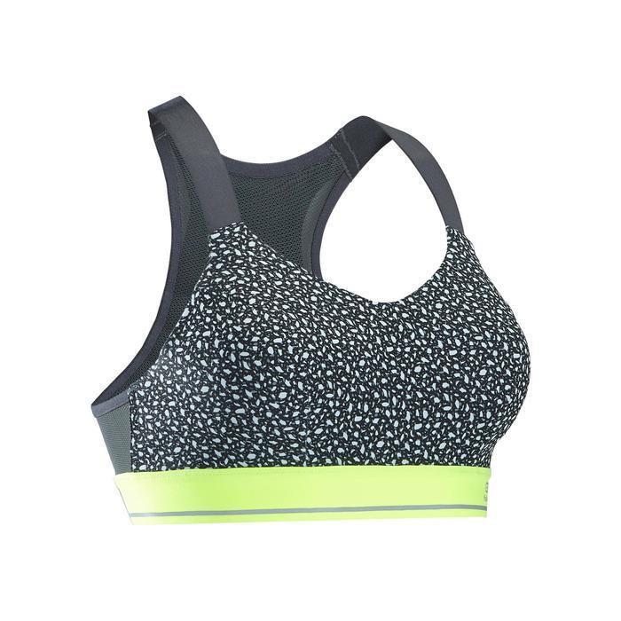 Sporttopje Comfort voor hardlopen grijs textuur