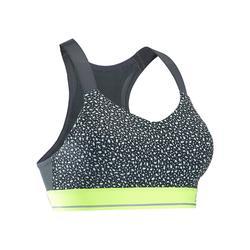 Comfort 跑步運動短版上衣 - 灰色織紋