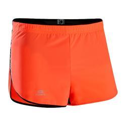 男款跑步短褲Kiprun Split - 紅色