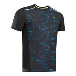 男款跑步T恤Kiprun Light - 黑色/藍色