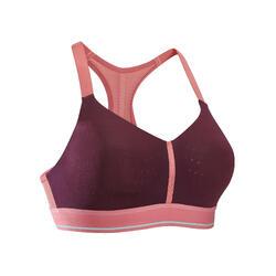 Sportbeha Sportance Comfort voor hardlopen pruimkleur