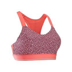 Comfort 跑步運動短版上衣 - 紫色
