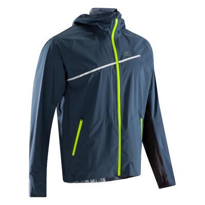 Men's Waterproof Trail Running Jacket - blue/storm grey