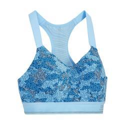 Comfort 跑步運動短版上衣 - 迷彩藍
