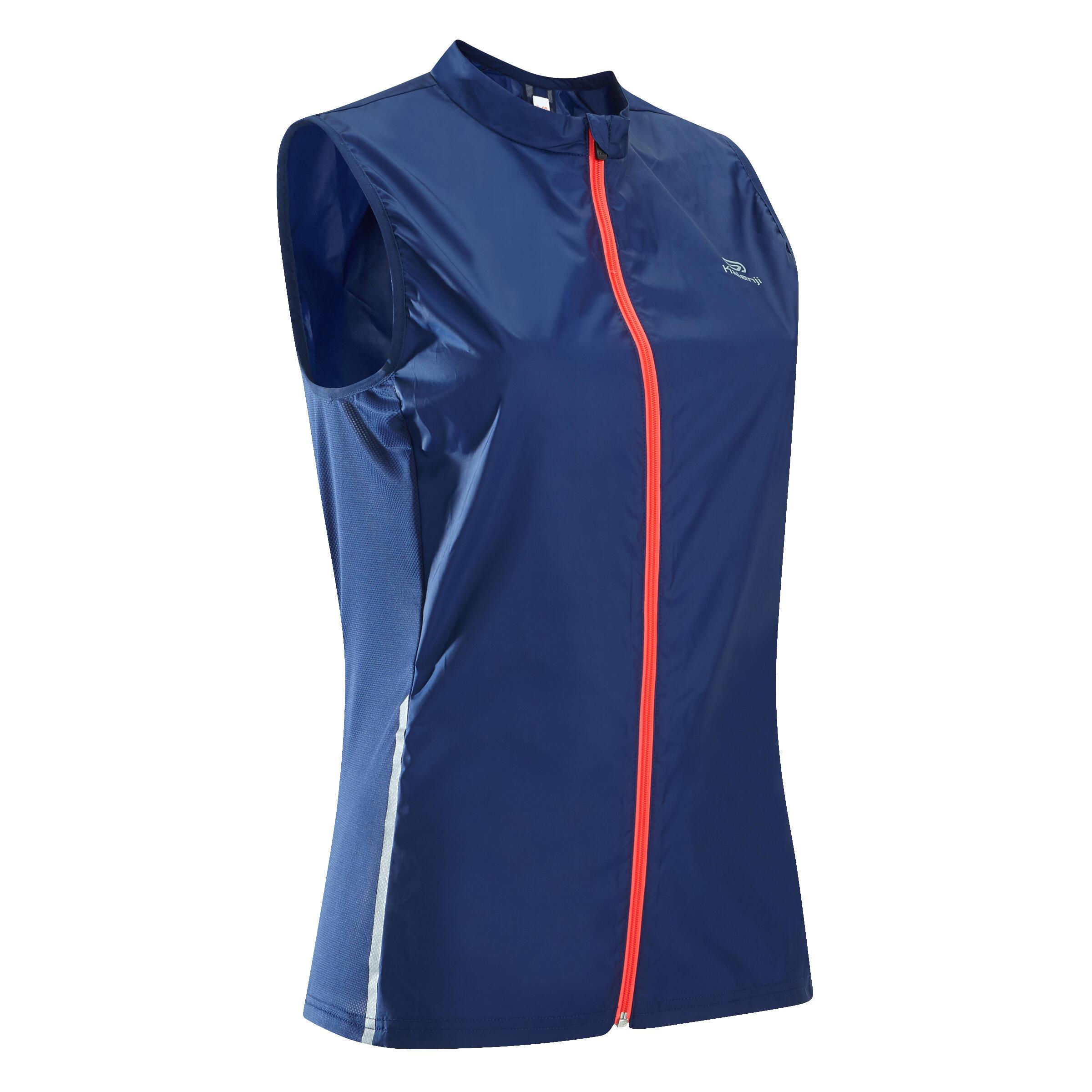 Kalenji Mouwloos windjack jogging dames Run Wind