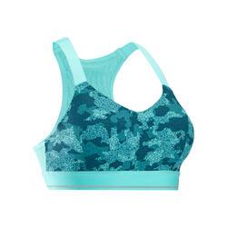 Comfort 跑步運動短版上衣 - 迷彩土耳其藍