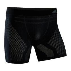 男款無縫跑步四角褲 - 黑色