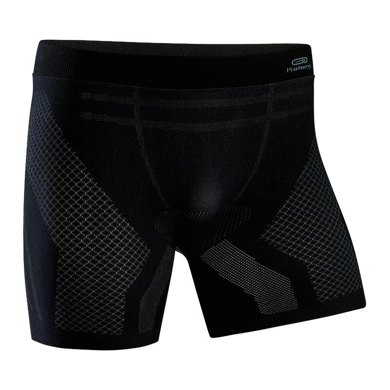 Naadloze boxershort voor hardlopen heren zwart