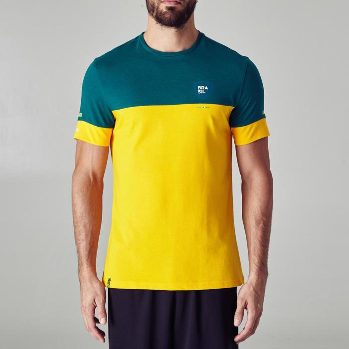T-shirt de football adulte FF100 Brésil - 1276263