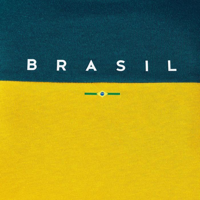 T-shirt de football adulte FF100 Brésil - 1276264