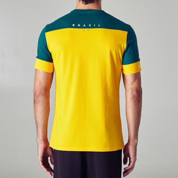 T-shirt de football adulte FF100 Brésil - 1276265