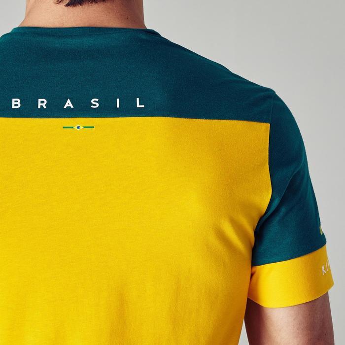 T-shirt de football adulte FF100 Brésil - 1276266