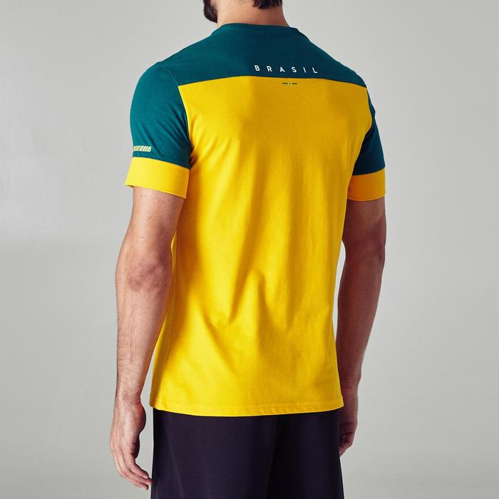 T-shirt de football adulte FF100 Brésil - 1276267