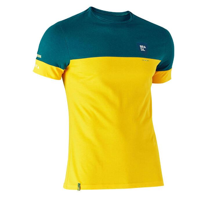 T-shirt de football adulte FF100 Brésil - 1276269