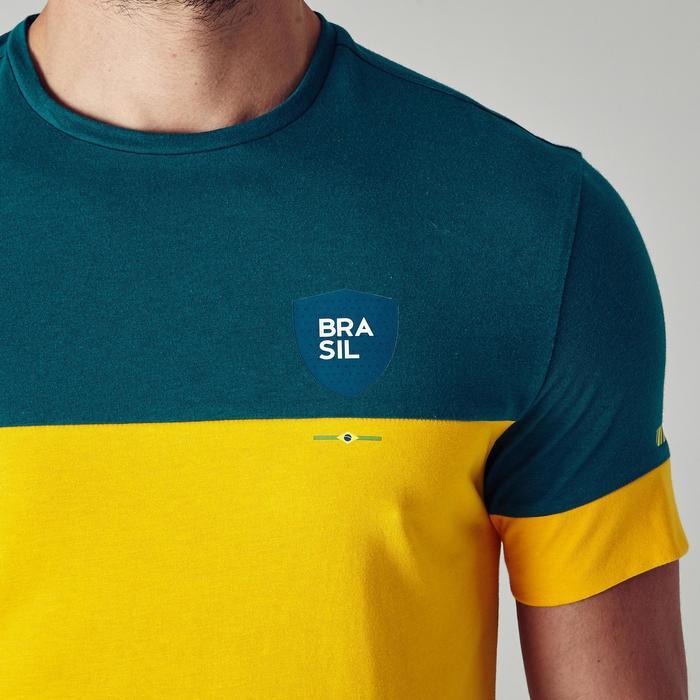 T-shirt de football adulte FF100 Brésil - 1276271