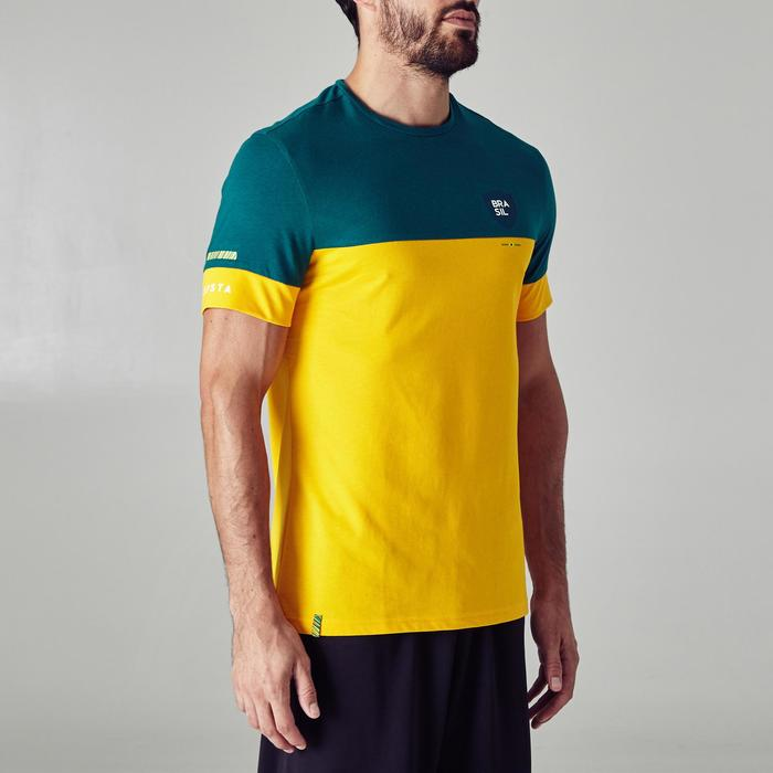 T-shirt de football adulte FF100 Brésil - 1276272