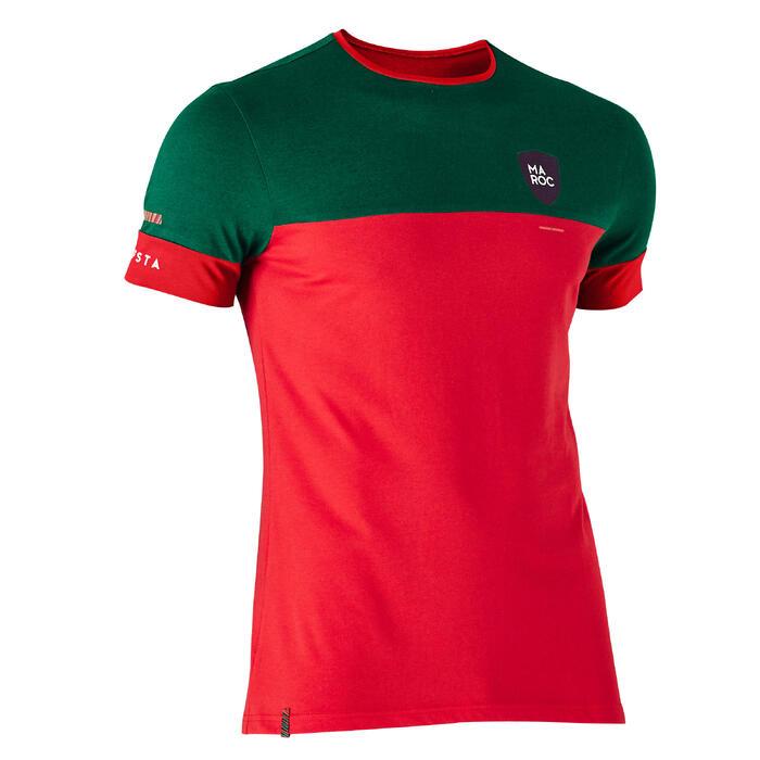T-shirt de football adulte FF100 Maroc - 1276308