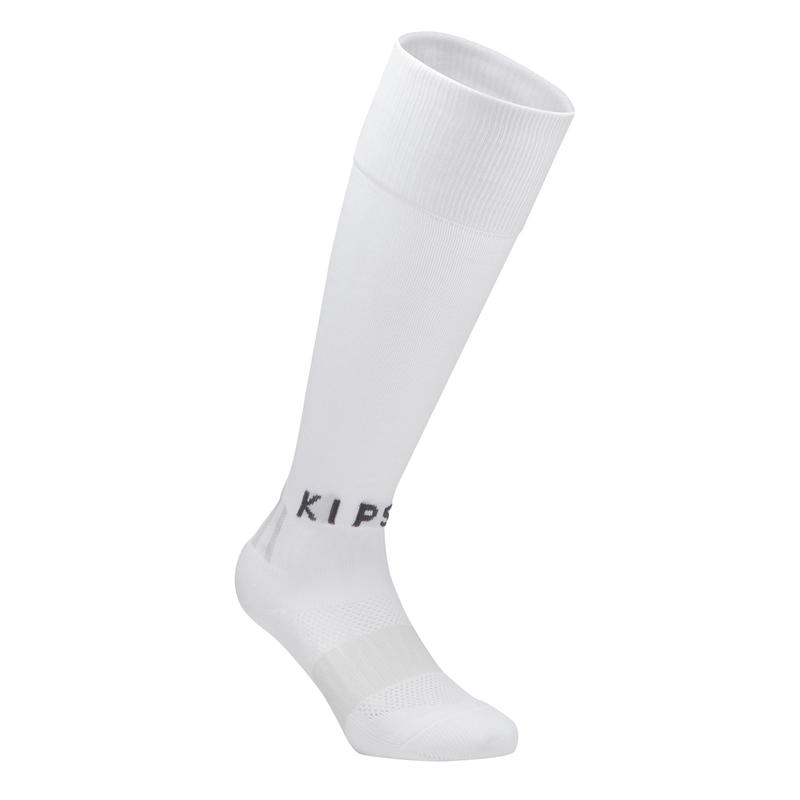 F500 Kids' Football Socks - White/Grey