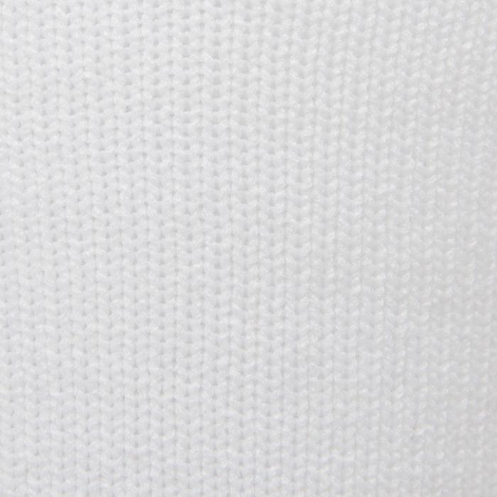 Chaussette de football enfant F500 blanc et gris