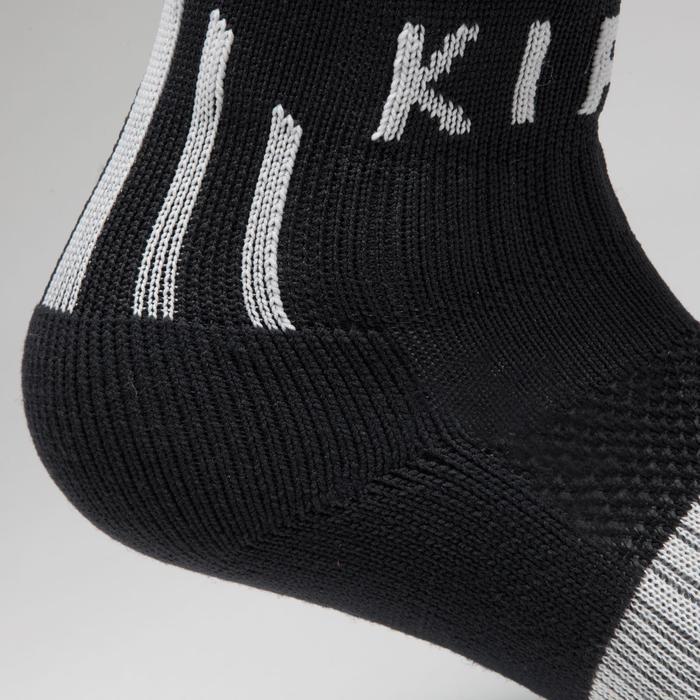 Chaussette de football enfant F500 noire et grise - 1276357