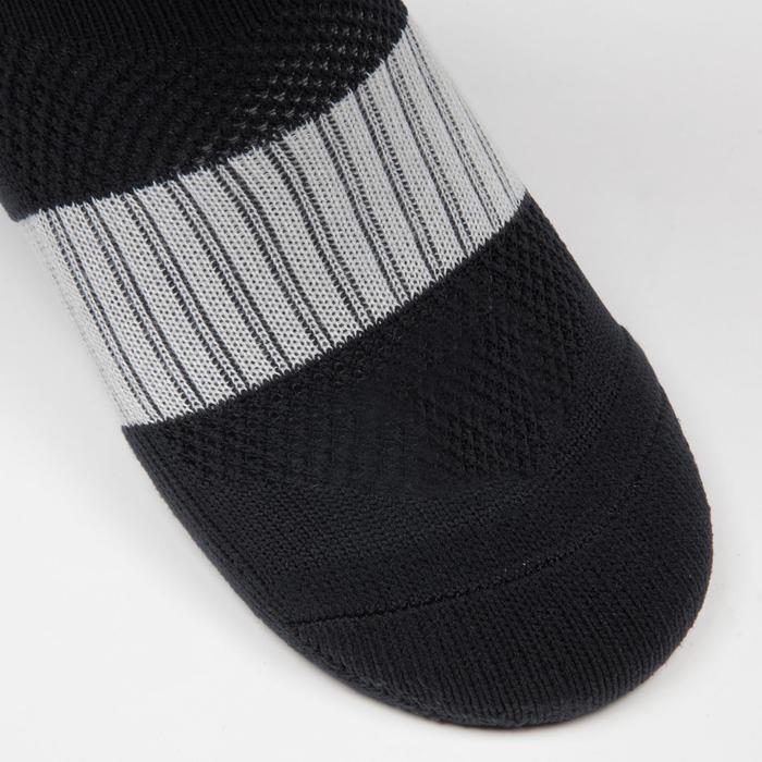 Chaussette de football enfant F500 noire et grise - 1276359