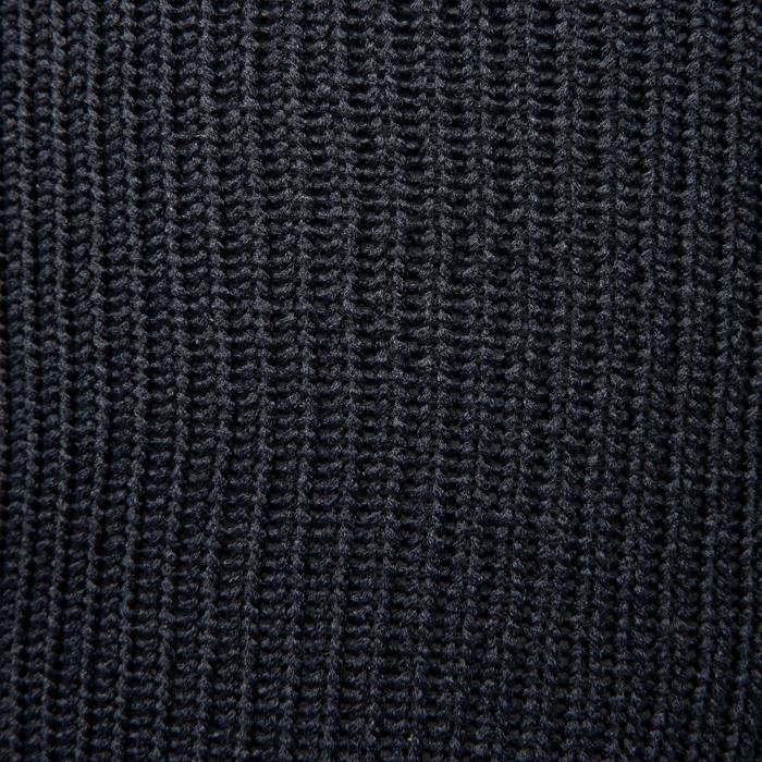 Medias de fútbol júnior F500 negro y gris