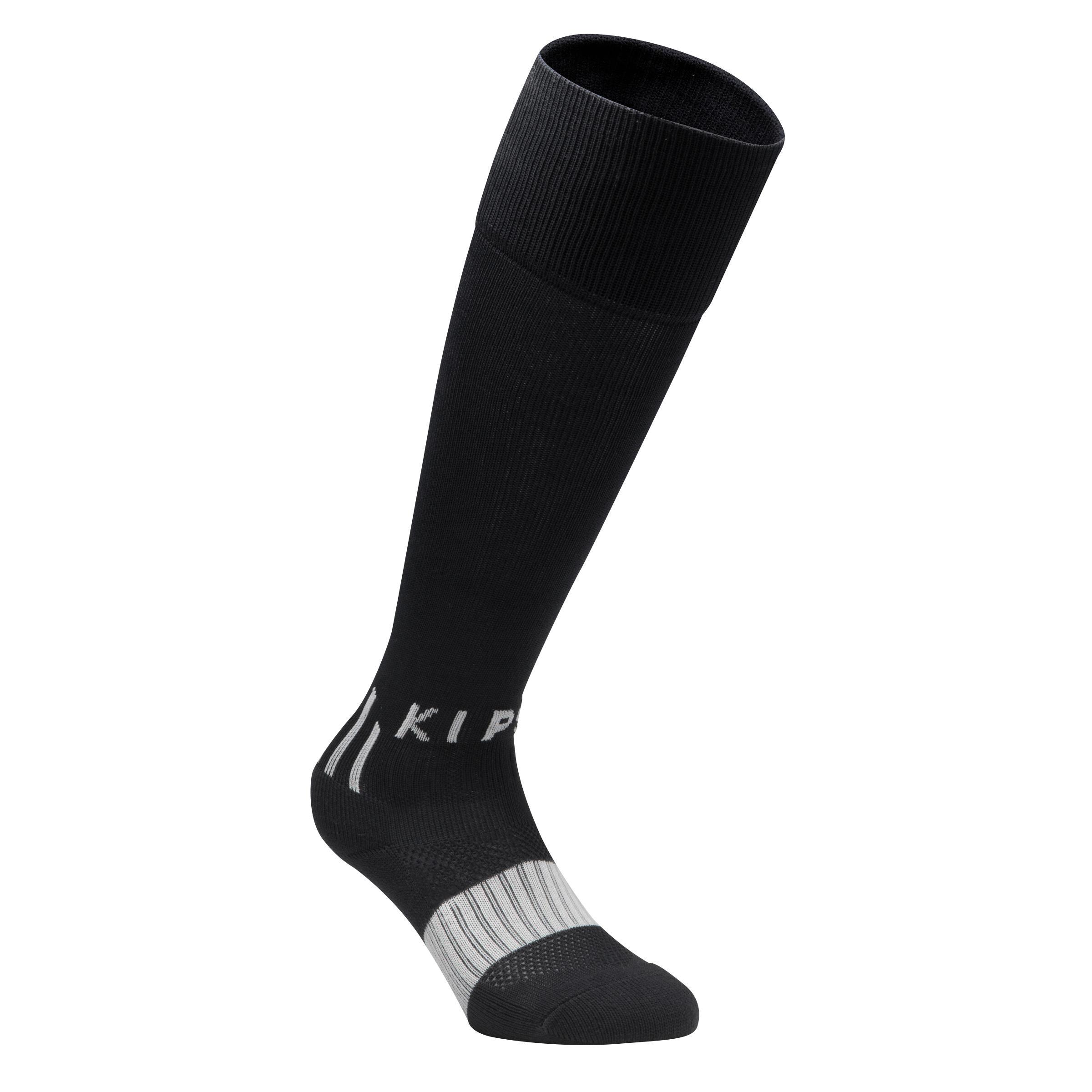 F 500 Kaos Kaki Sepak bola Junior - Hitam Sepanjang Lutut