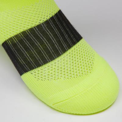 Chaussette de football enfant F500 jaune fluo