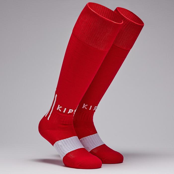 Chaussette de foobtall adulte F500 rouge et blanche