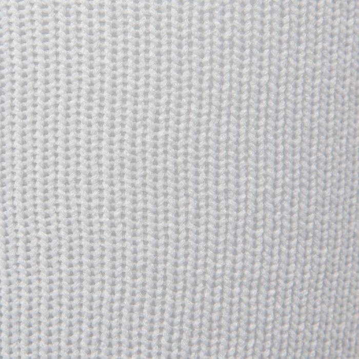 Chaussette de football enfant F500 gris et noir