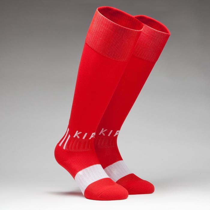 Chaussette de football enfant F500 rouge