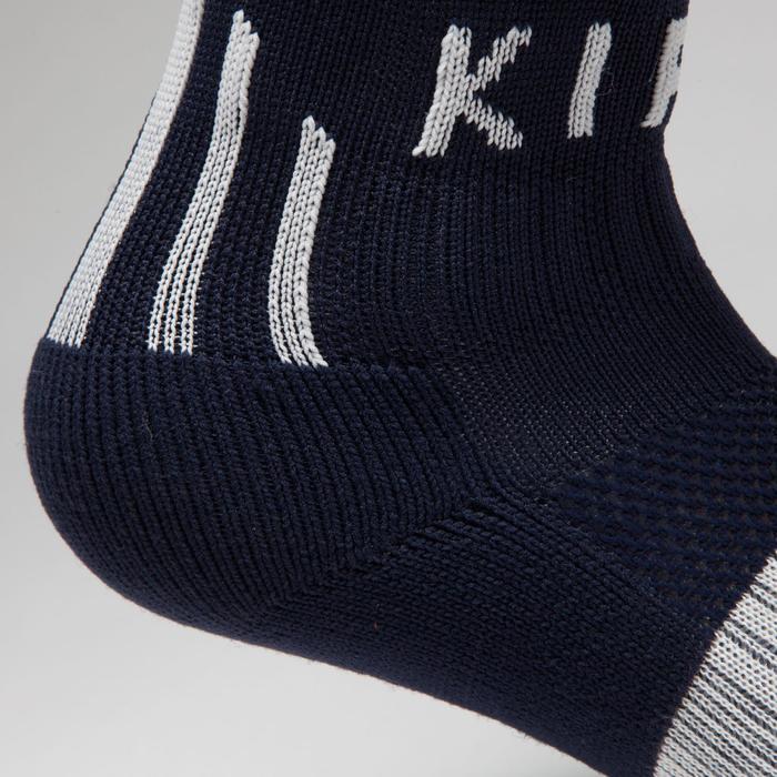 Chaussette de football enfant F500 noire et grise - 1276400