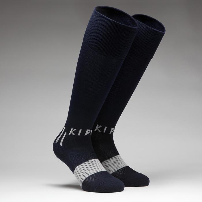 Chaussette de football enfant F500 noire et grise - 1276404