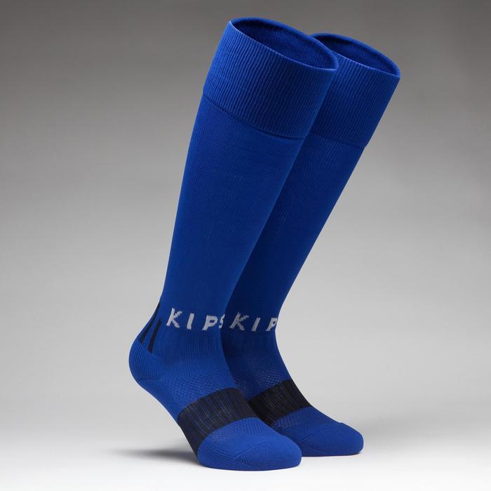 Chaussette de football enfant F500 bleu indigo