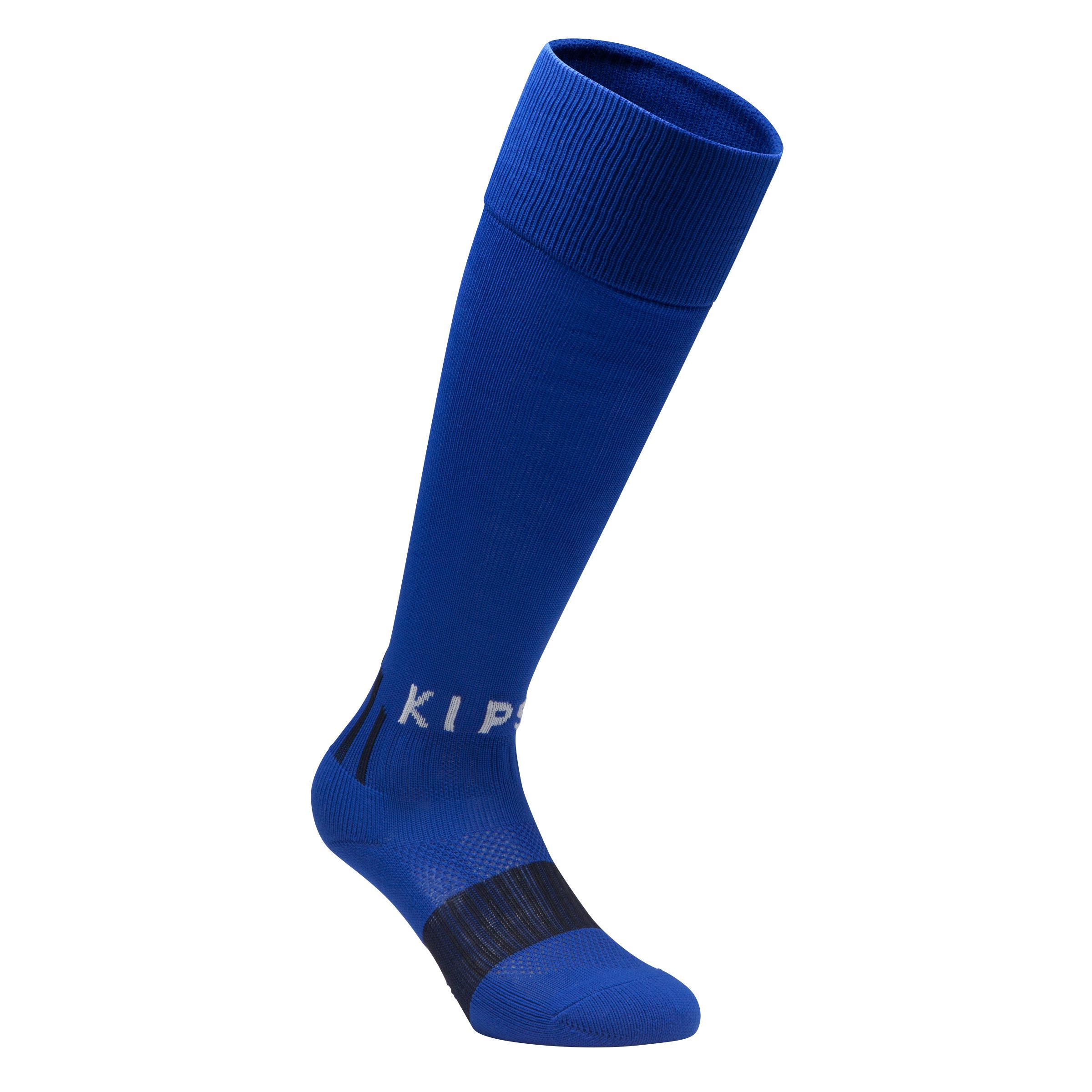 Calcetas de fútbol niños F500 azul índigo