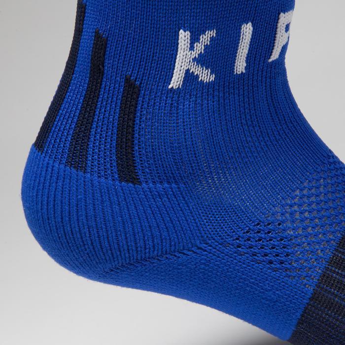 Chaussette de football enfant F500 bleue indigo