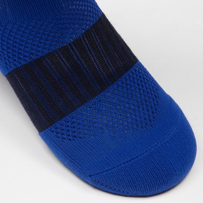 Chaussette de football enfant F500 noire et grise - 1276412