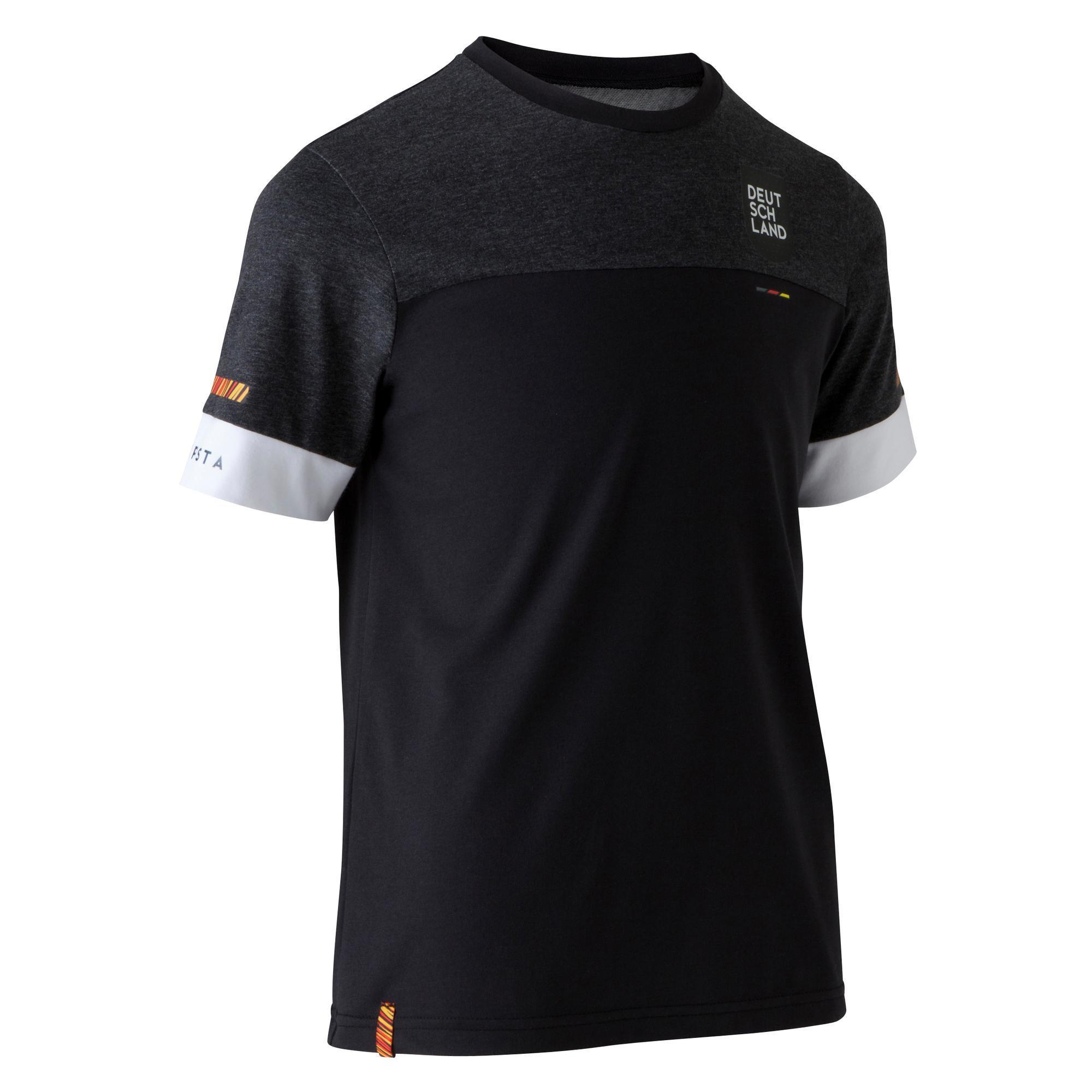 T shirt de football enfant ff100 allemagne noir kipsta
