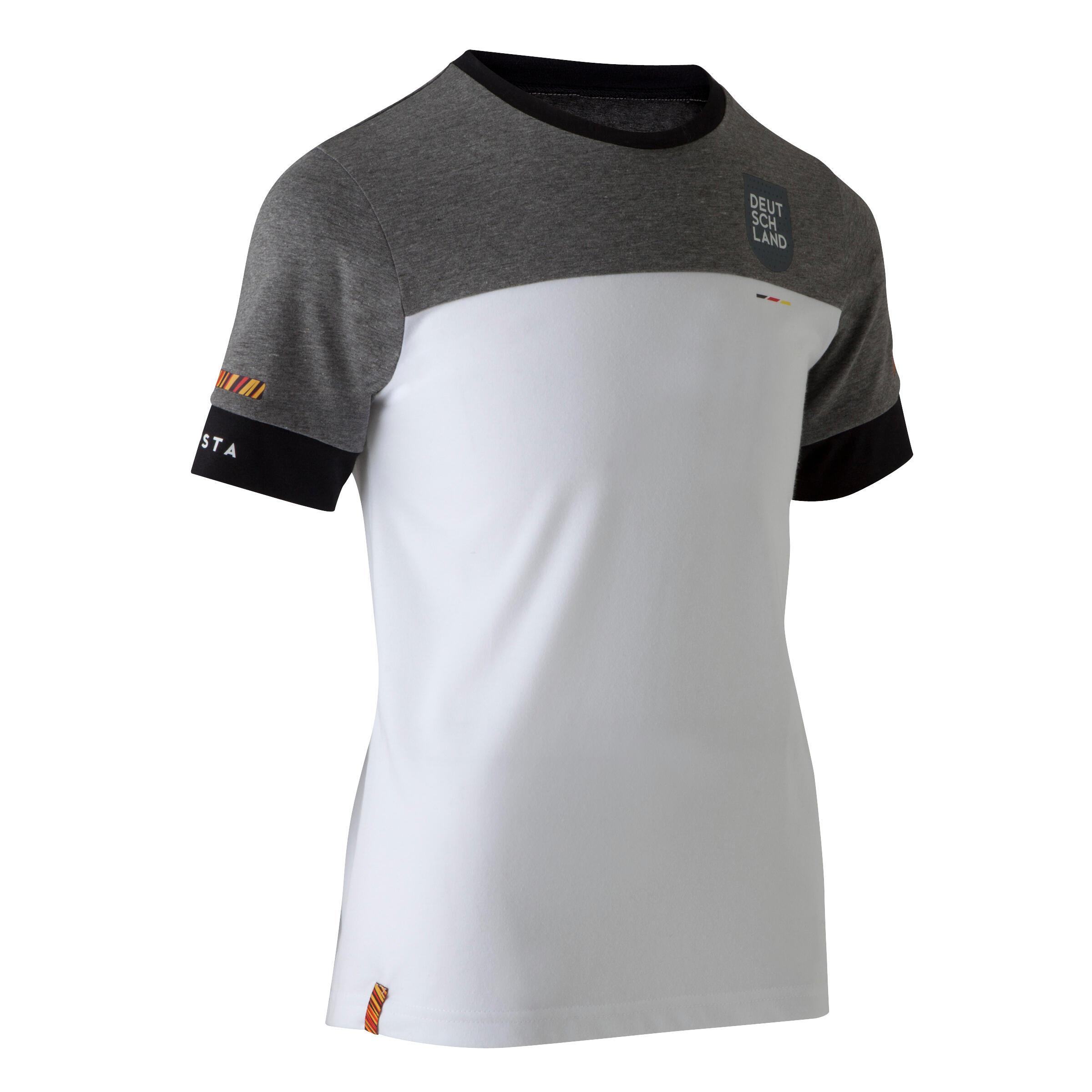 T shirt de football enfant ff100 allemagne blanc kipsta