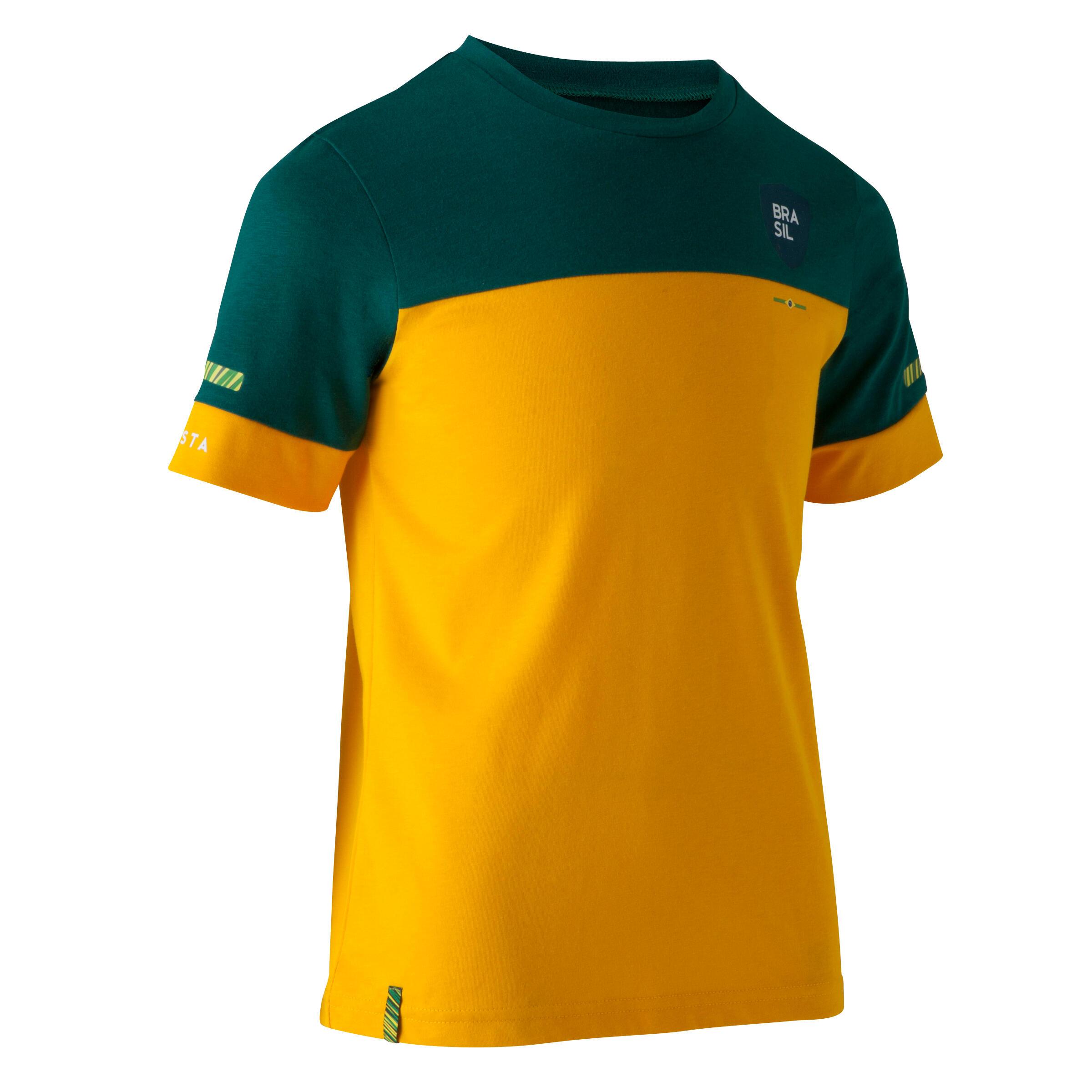 Jungen,Kinder,Kinder Fußballtrikot FF100 Kinder Brasilien   03583788194859